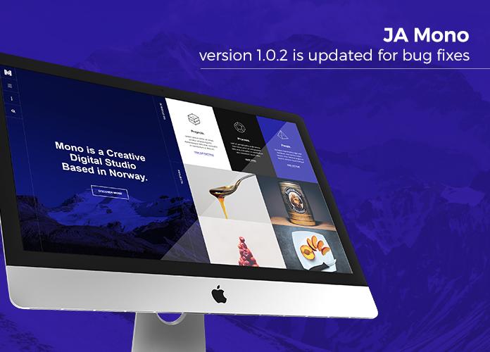 Responsive Joomla 3 template for Creative Business - JA Mono v1.0.2 release
