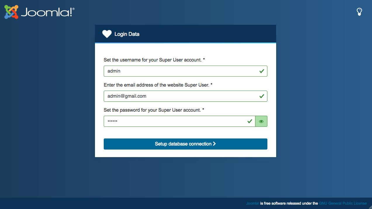 joomla 4 site login account configuration