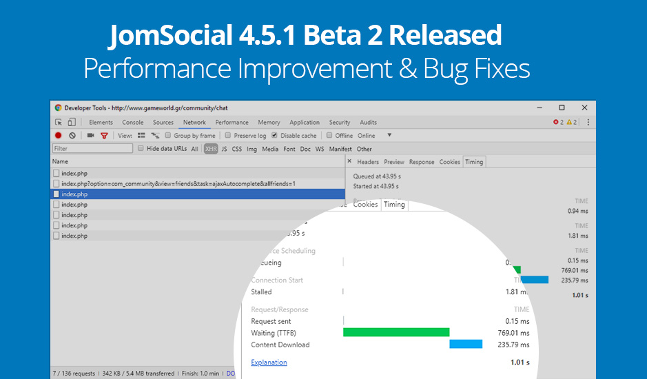 JomSocial major release for performance improvement and 17+ bug fixes