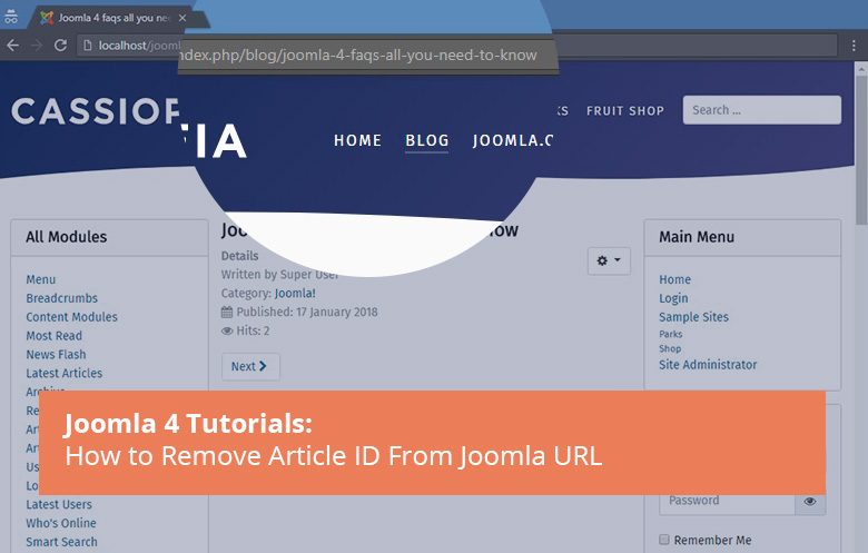 Joomla 4 tutorial to remove id from urls