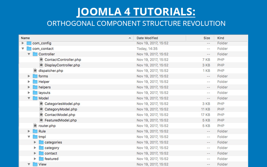 joomla 4 Orthogonal Component Structure