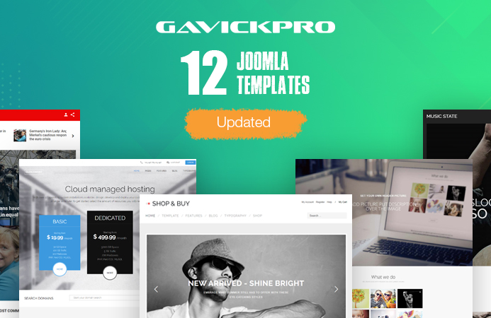 12 gavick Joomla templates updated