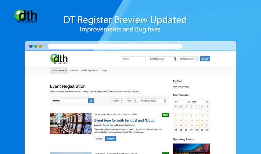 DT Register updated for bug fixes