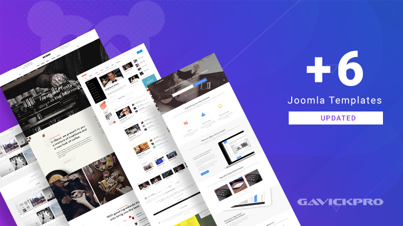 6 gavick Joomla templates updated