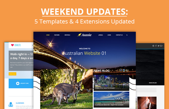 Weekend Updates: 5 Joomla templates and 4 Joomla modules updated