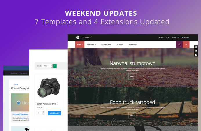 Weekend Updates: 7 templates and 2 extensions updated