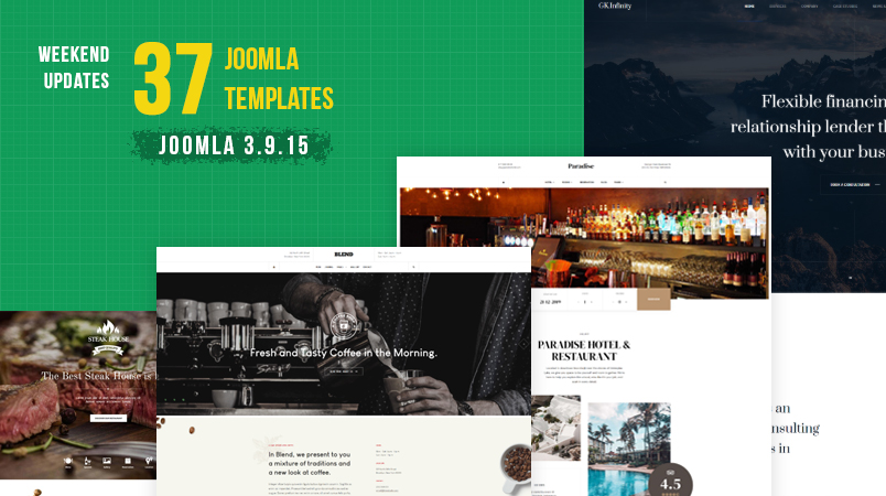 37 gavick Joomla templates updated