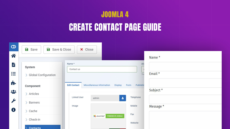 Contact us page in Joomla 4