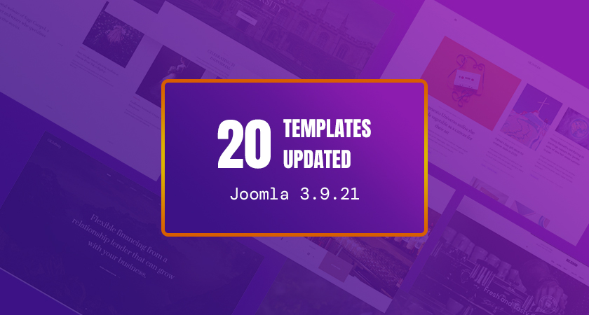 20 gavick Joomla templates updated