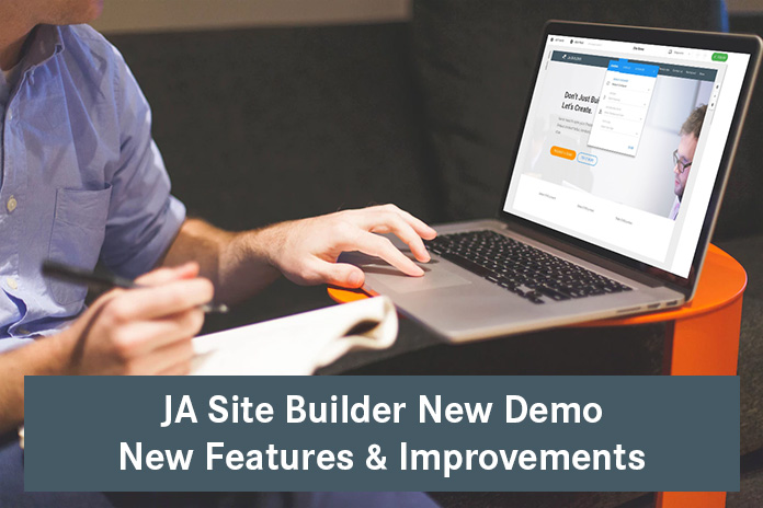 JA Joomla site builder : 5 new features added this week.