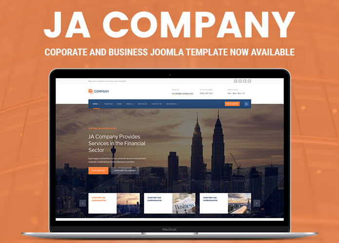 Review | Features : Corporate and Business Joomla template - JA Company