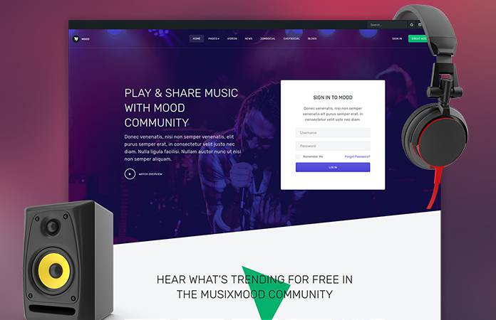 Review | Features : Community and Social Joomla template - JA Mood