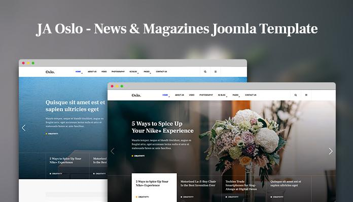 Review | Features : Joomla News Magazine Template JA Oslo