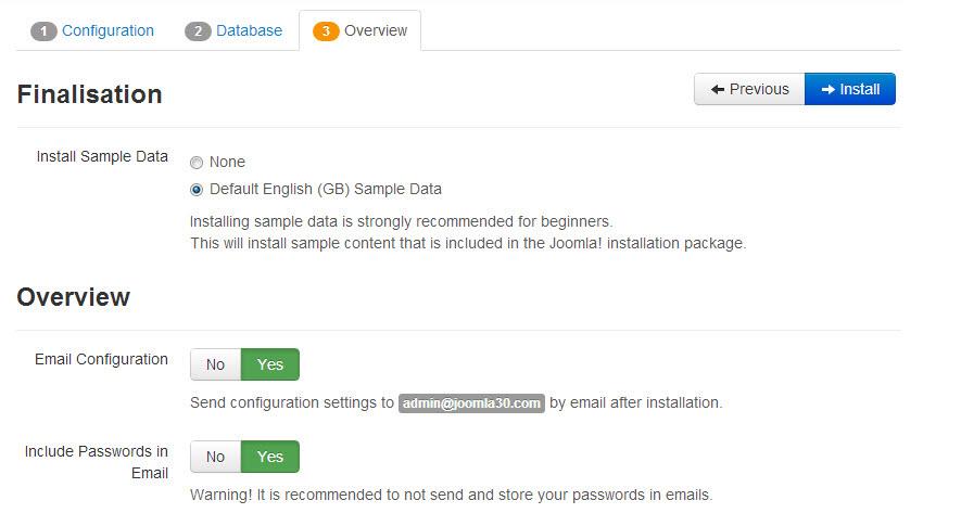 Installation - T3 - Joomla Template Framework