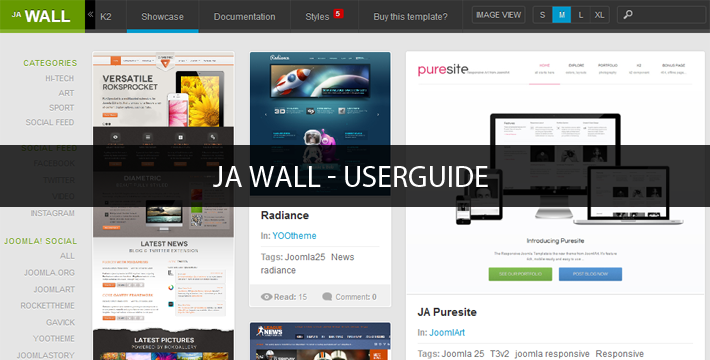 JA Wall Userguide