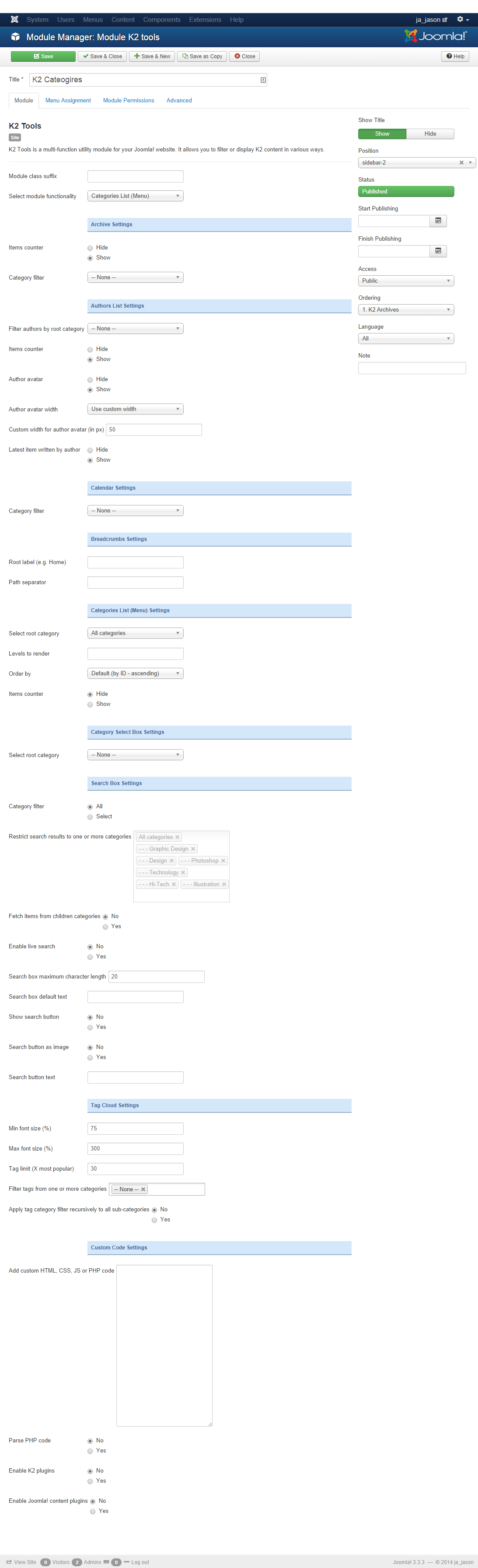 Noo k2 category items module helps you show all latest, most popular k2 items in each category in a bootstrap tab