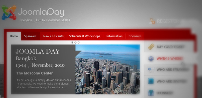 [Preview] JA Event Template - JoomlaDay, DrupalCon or even more?