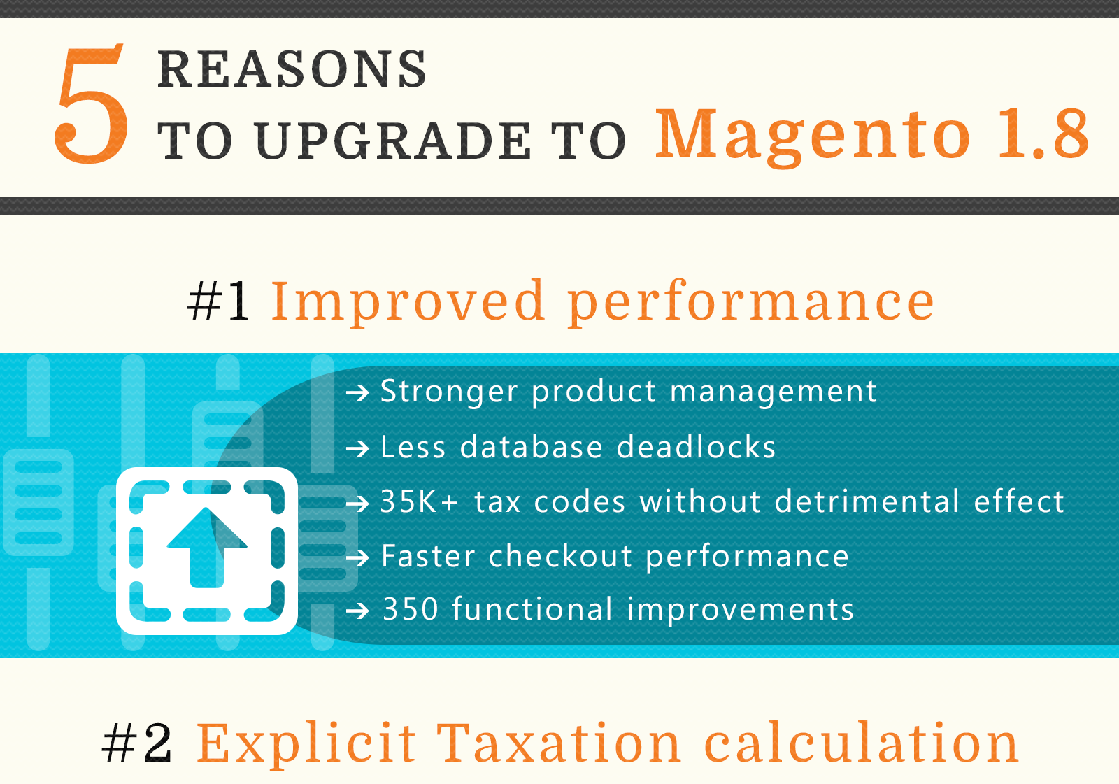 Infographic: 5 reasons for upgrading to Magento 1.8
