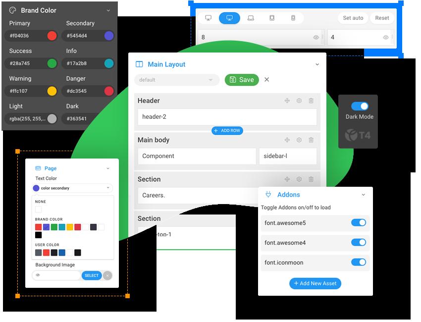 responsive joomla template framework - t4 framework