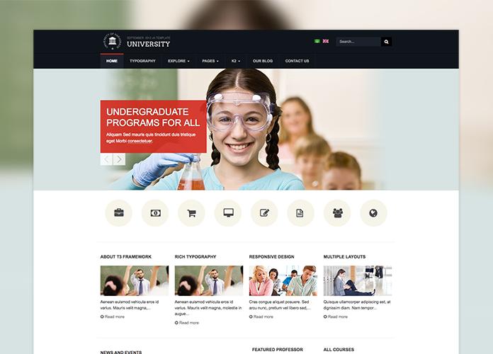 Responsive Joomla template - JA University upgraded to the latest ...