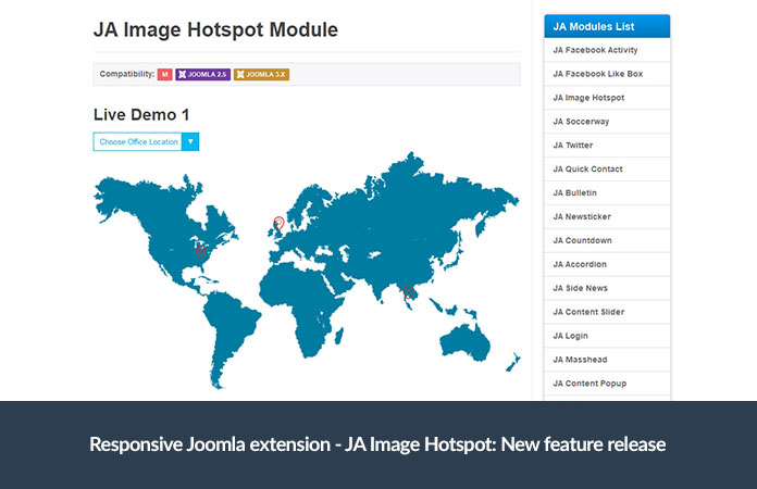 Responsive Joomla extension - JA Image Hotspot: New feature release