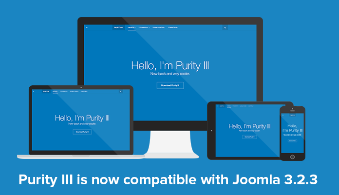Free Responsive Joomla template - Purity III is now Joomla 3.2.3 ready