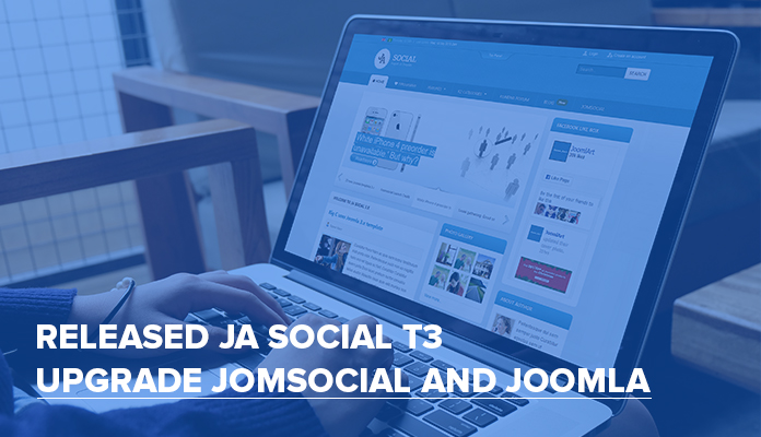 Responsive Joomla template - JA Social T3 updated for Joomla 3.4.6