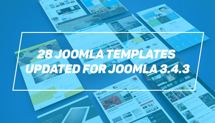 28 Joomla templates updated for Joomla 3.4.3