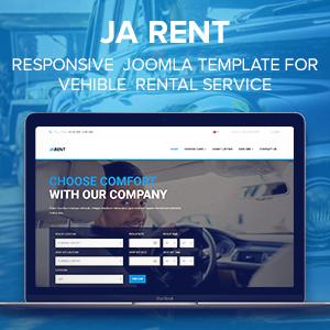 Review: JA Rent - Responsive Joomla template for Vehicle Rental service
