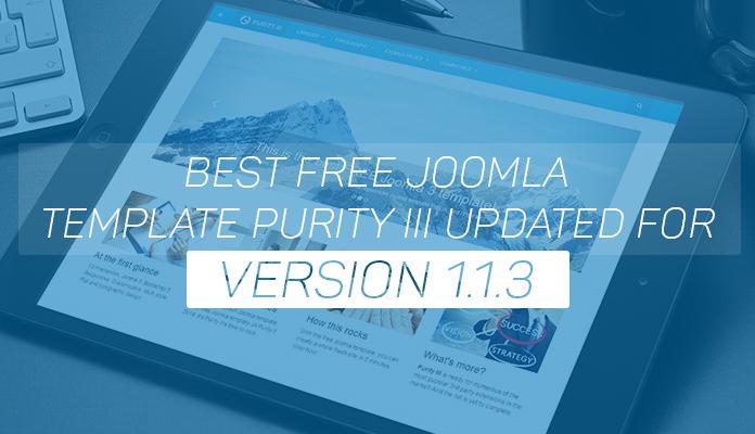 Best Free Joomla Template Purity Iii Updated For Version 113