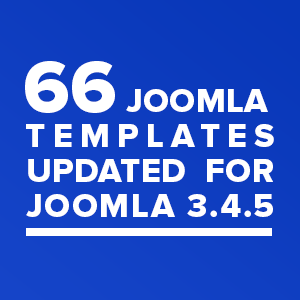 66 Joomla templates updated for Joomla 3.4.5