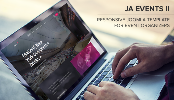 Review ja events ii joomla template for event organizers joomla ja event ii features img maxwellsz