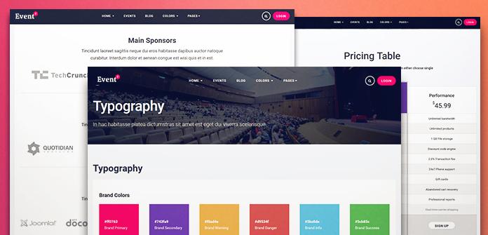 Review: JA Events II - Joomla template for event organizers | Joomla ...