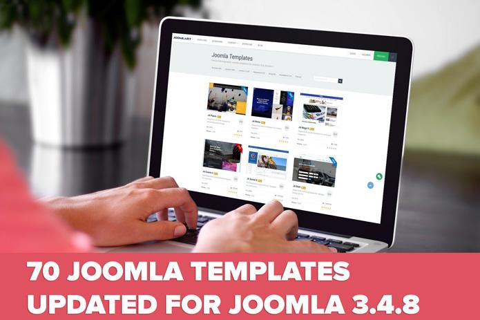 70 Joomla templates updated for Joomla 3.4.8