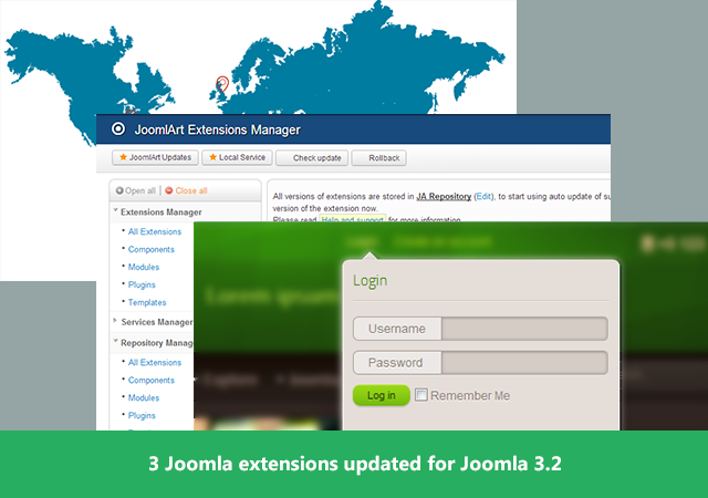 3 Joomla extensions updated for Joomla 3.2