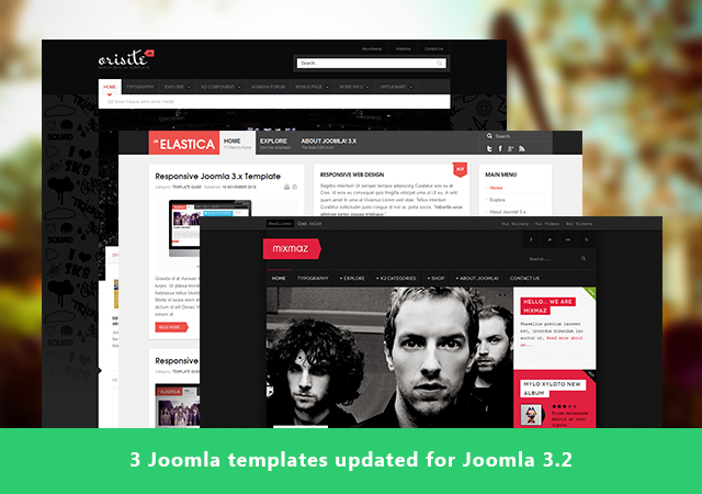 3 more Joomla templates are ready for Joomla 3.2