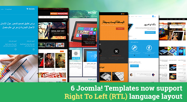 The First batch of Joomla Templates 2.5 & 3 supporting Right-to-left (RTL) language layout