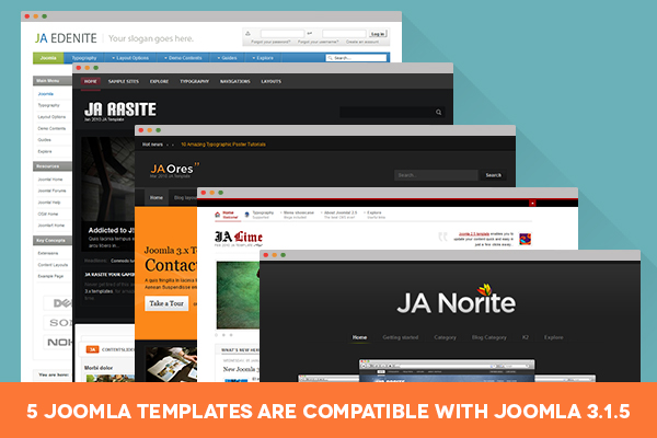 Update: 5 more Classic Joomla templates are now compatible with Joomla 3