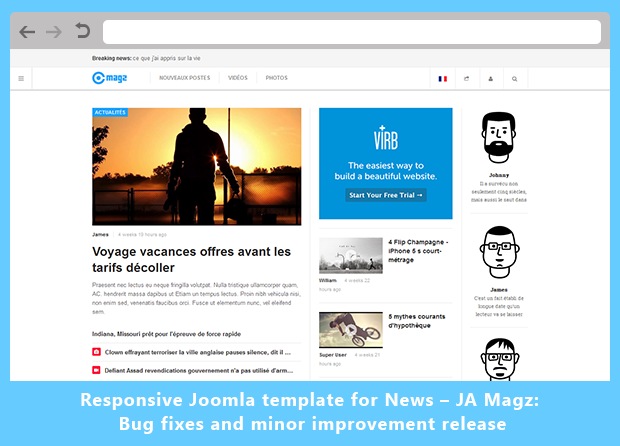 Responsive Joomla template for News – JA Magz: Bug fixes and minor improvement release