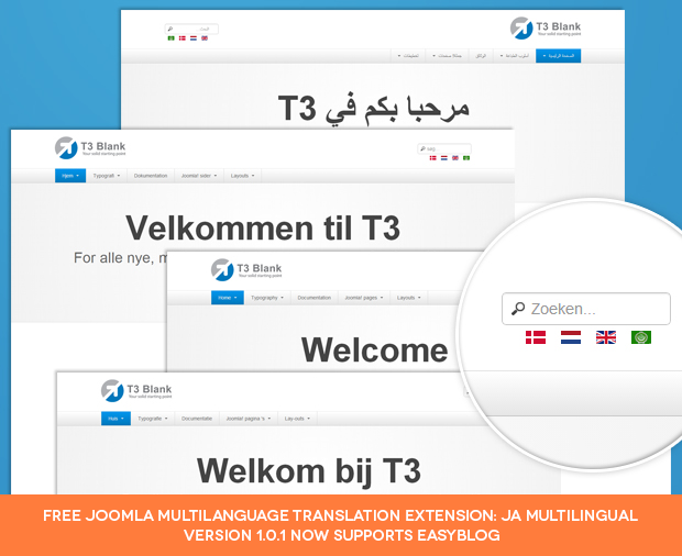 Free Joomla Multilingual Extension - JA Multilingual now supports EasyBlog
