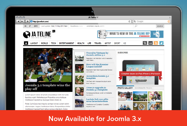 JA Teline IV version 2.5.3 for Joomla 2.5 & 3.1 - Added K2 style and routine bug fix