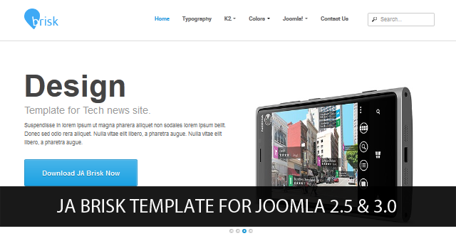 JA Brisk Beta and T3v3 Framework RC1 for Joomla 2.5 and Joomla 3.0 released