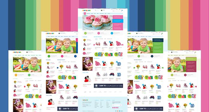 Magento extension Basetheme in responsive Magento theme Kidsland