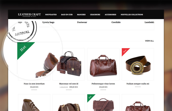 Magento extension JM Basetheme in responsive Magento theme JM Leathercraft
