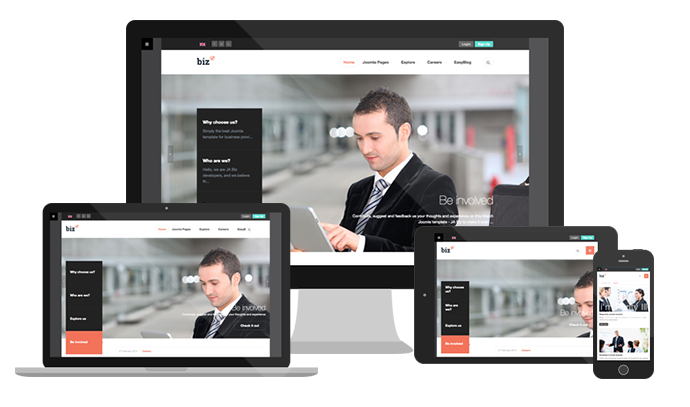 Quickly set-up a Responsive Joomla template with JA Biz