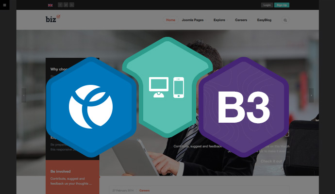 Built on the powerful Joomla template framework - T3 Framework