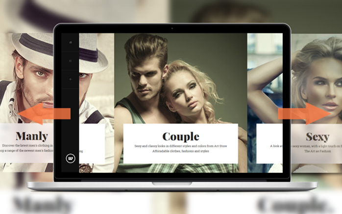 Homepage in Responsive Magento theme Classy