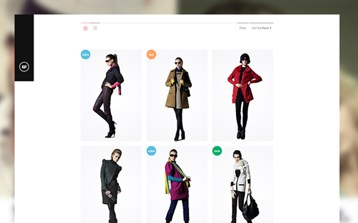 Product list in responsive Magento theme Classy