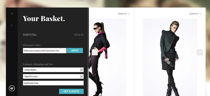Shopping cart in responsive Magento theme JM Classy