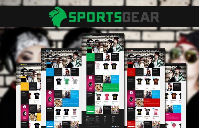 Responsive Magento theme SportsGear